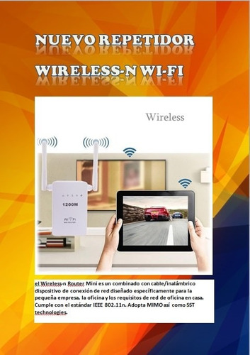 repetidor wifi router 2 antenas mayor alcance 300mbps 2.4ghz