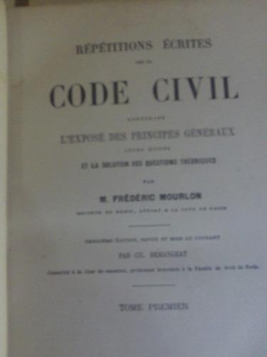 repetitions ecrites sur le code  civil