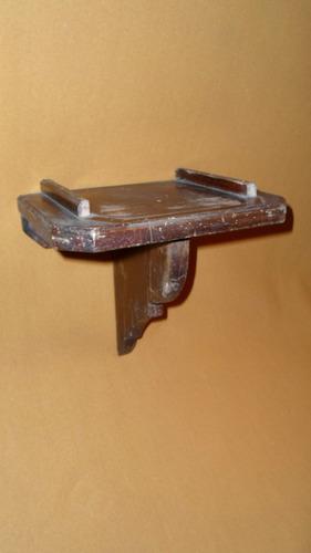 repisa antigua de madera macisa 25x20 cm