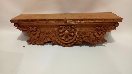 repisa antigua en cedro natural tallado precio x c/u