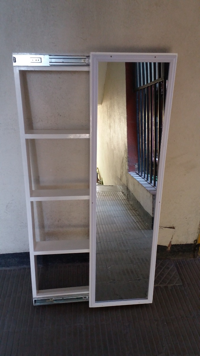 Repisa con espejo corredizo en mercado libre for Espejo envejecido precio