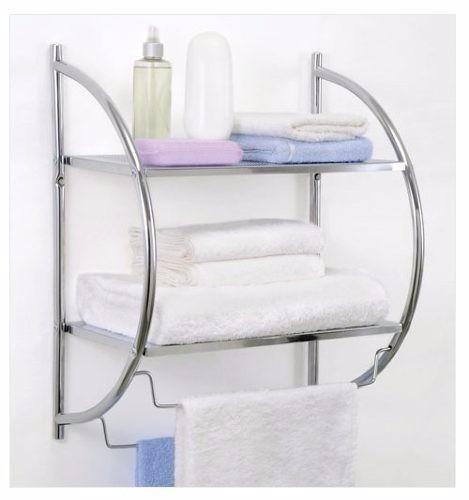 Repisa Cromada Para Baño 2 Estantes Toallero Acero Cromado -   1.299 ... 61c622776d1c
