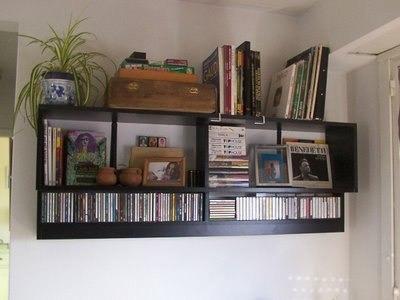 repisa cubos porta cd .