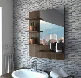 Repisa De Baño Mueble Espejo Moderno Minimalista Aereo