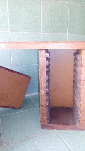 repisa de madera country porta cd, 2 repisas x 8mil soberano