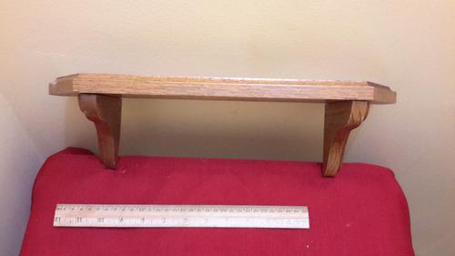 repisa de madera solida 40cm largo   c3226