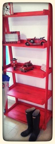 repisa de pino estantería de madera estilo vintage