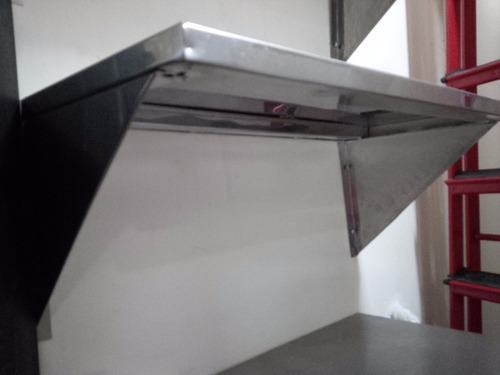 repisa en acero inoxidable usado 66 cm x 33 cm