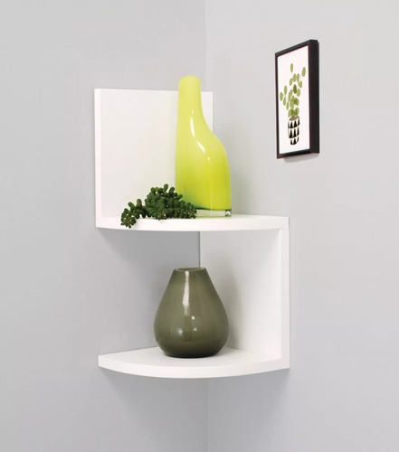 repisa esquinera minimalista decoración mdf mueble moderna