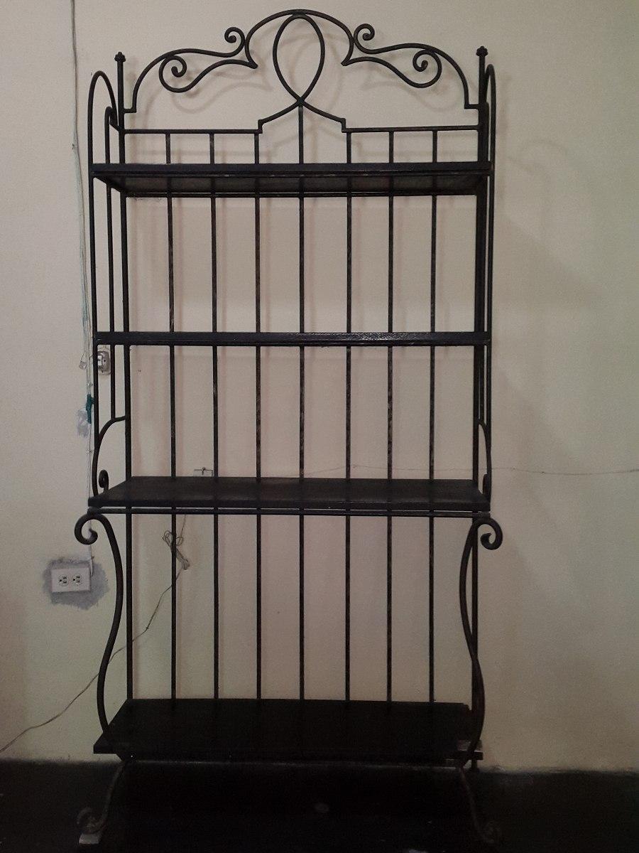 Repisa estante en hierro forjado con madera bs en mercado libre - Colgadores de hierro forjado ...