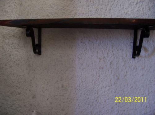 repisa - estante madera y  hierro 80cm x 25cm regalos boda