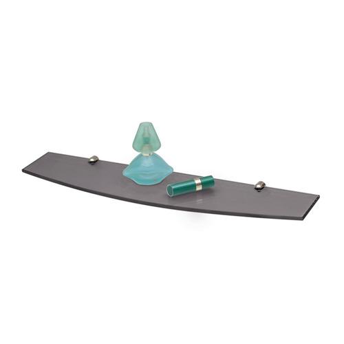 repisa estante reflejar diseño curvo gris 12x50 envío gratis