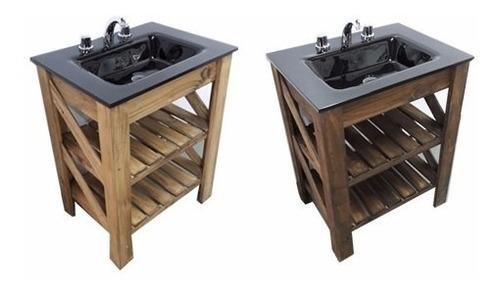 repisa estante toallero con barral baño 55cm acero inox