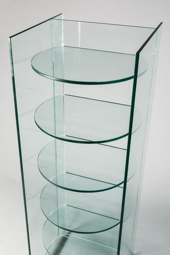 repisa / estantería en vidrio 10mm con pegado laser