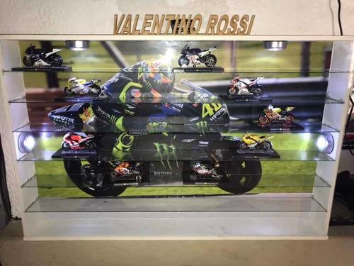 repisa exhibidora motos valentino rossi