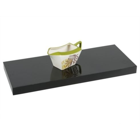 repisa flotante 60x25x3.8 cm negro home collection h.c