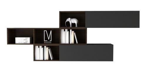 repisa flotante colgante estanteria con puertas biblioteca