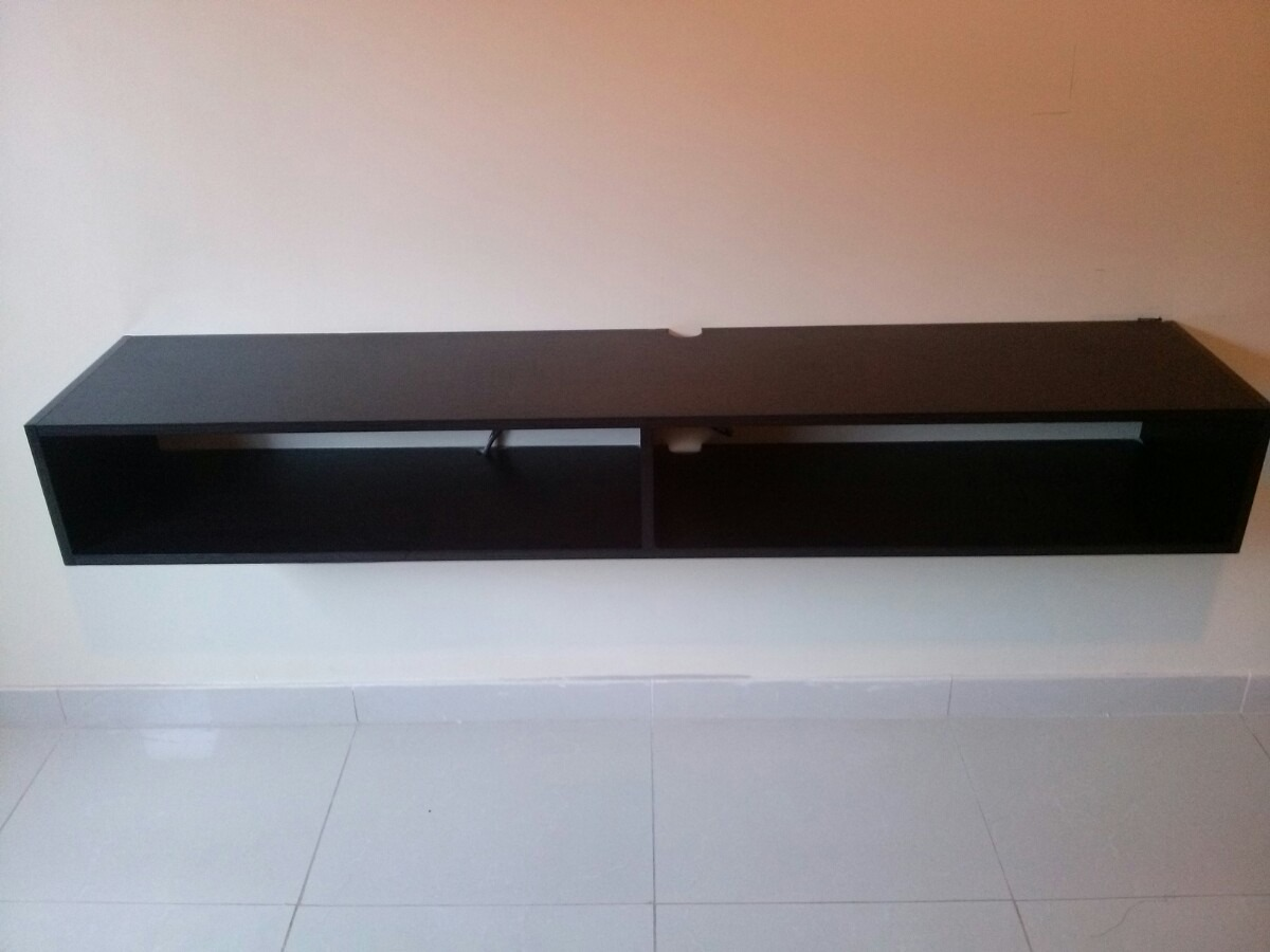 Repisa flotante de 150 cm playstation dvd m dem tv for Mueble de 5 repisas
