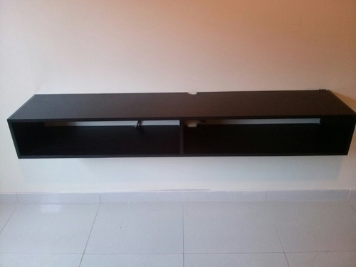 repisa flotante de 150 cm,  playstation, dvd, módem, tv, lcd