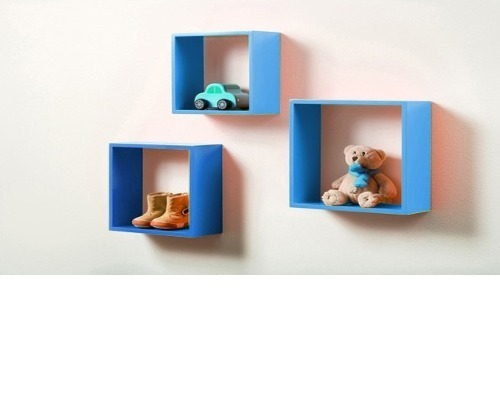 Repisas Flotantes Infantiles.Repisa Flotante De Tres Cubos Infantiles Madera Full Color