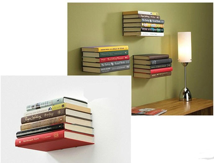 repisa flotante invisible para libros minimalista 195 On repisas para libros