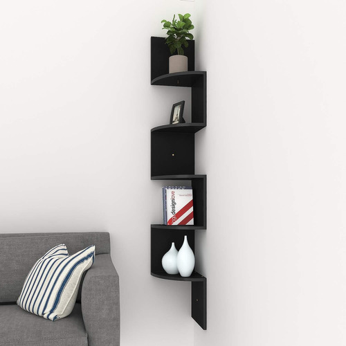 repisa flotante librero esquinero minimalista estante 5 nive