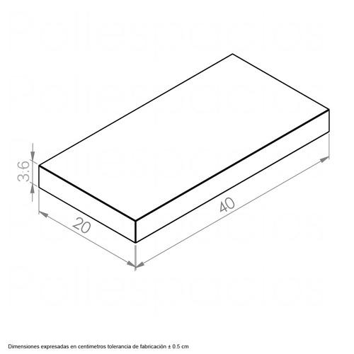 repisa flotante minimalista moderna decorativa r4020 gruesa