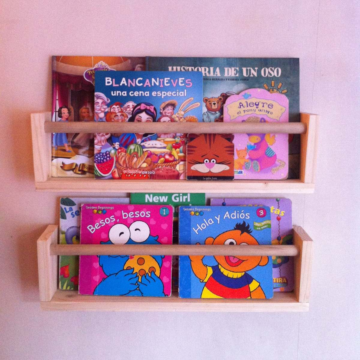 Repisa librero infantil flotante modelo corchete 12 for Ganchos para repisas