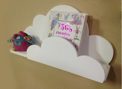 repisa librero infantil- modelo nube
