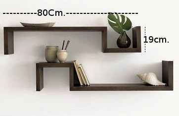 Repisa minimalista flotante moderna barata forma de s - Repisas de pared modernas ...