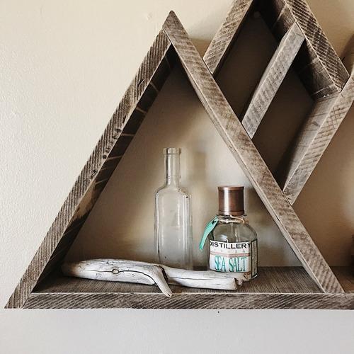 repisa montaña madera reciclada mediana - nautarde muebles