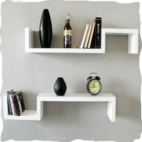 repisa mueble flotante decorativa moderna mdf s el par