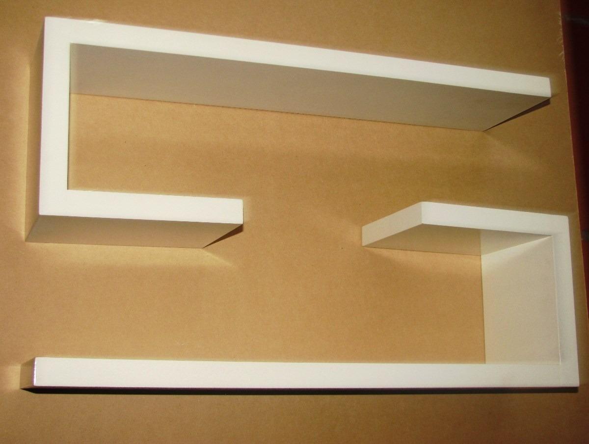 Repisa Mueble Flotantes Minimalistas Mdf Pintadas Tipo C  Bs 11900