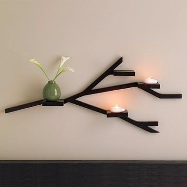 repisa mueble minimalista tipo rama mdf decorativa elegante