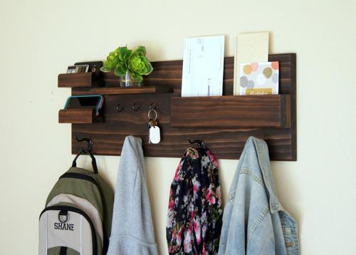 repisa organizador porta llaves perchero minimalista vintage
