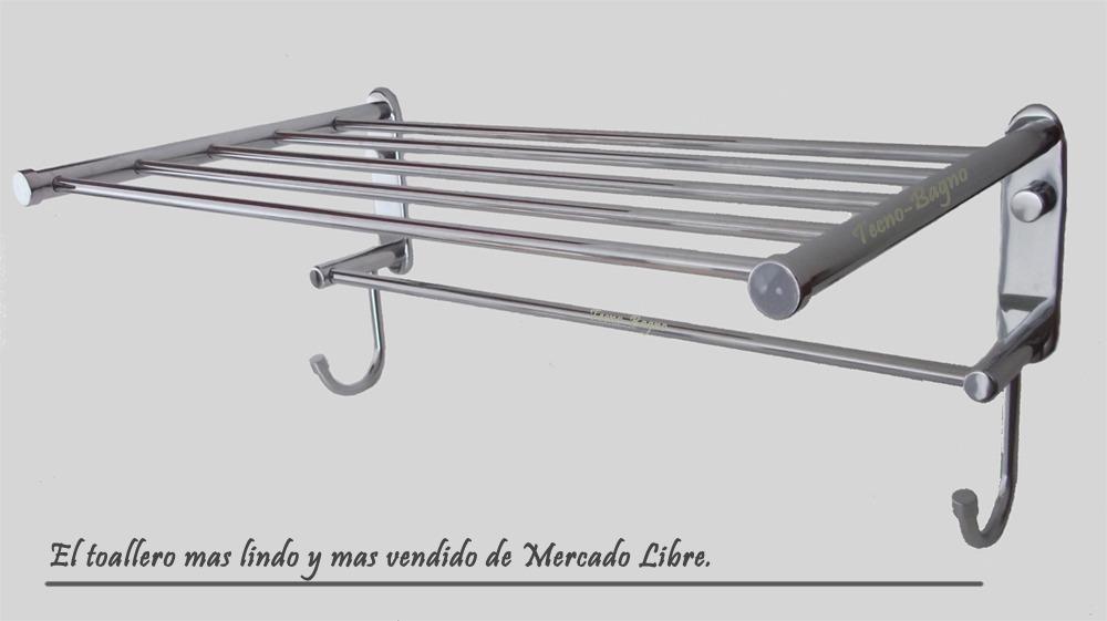 Repisa Portatoallas Barral Percha 100% Bronce Cromado Oferta ... bc397db46c22