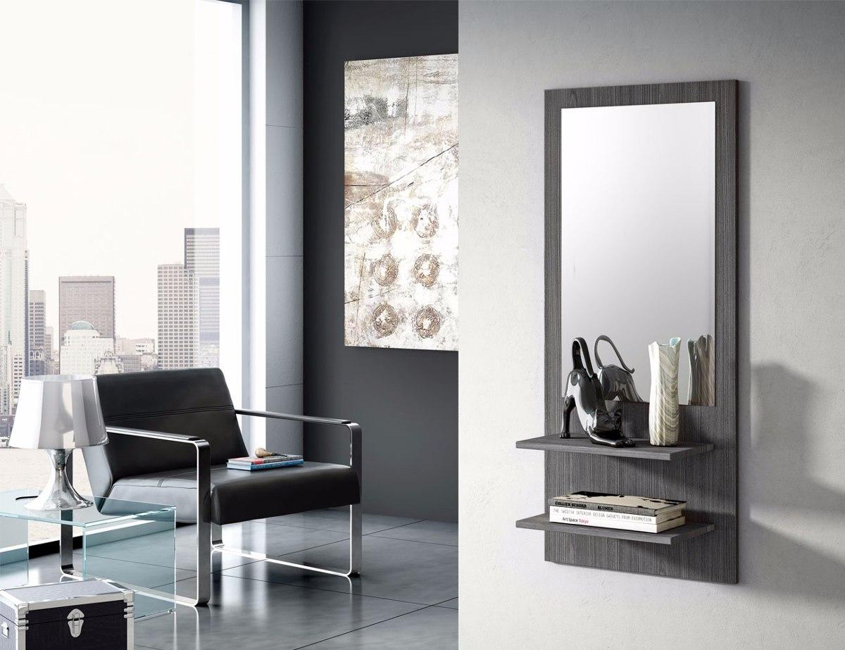 Repisa recibidor con espejo moderno elegante mobinterior 1 en mercado libre - Espejos de recibidor ...