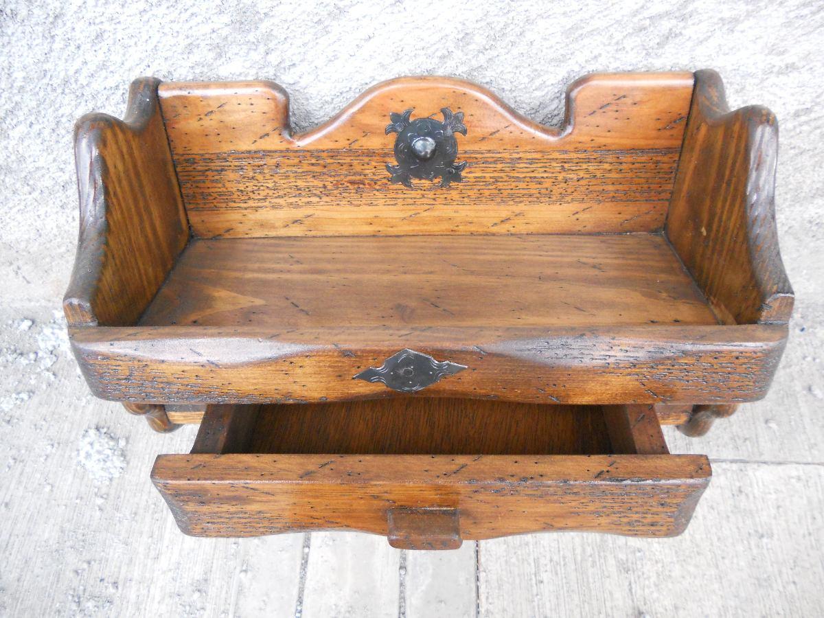 Repisa r stica con 1 cajon madera de pino apolillada en mercado libre - Madera de pino ...