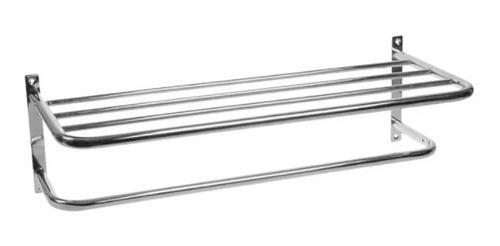 repisa toallero con barral baño cocina acero cromado garantía accesorio estante 60 centímetros ahora 12 y 18
