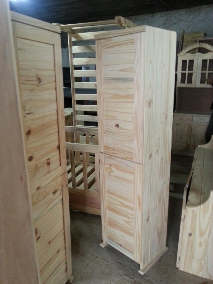 Repisa estanteria biblioteca con 2 puertas de madera for Puertas de madera maciza