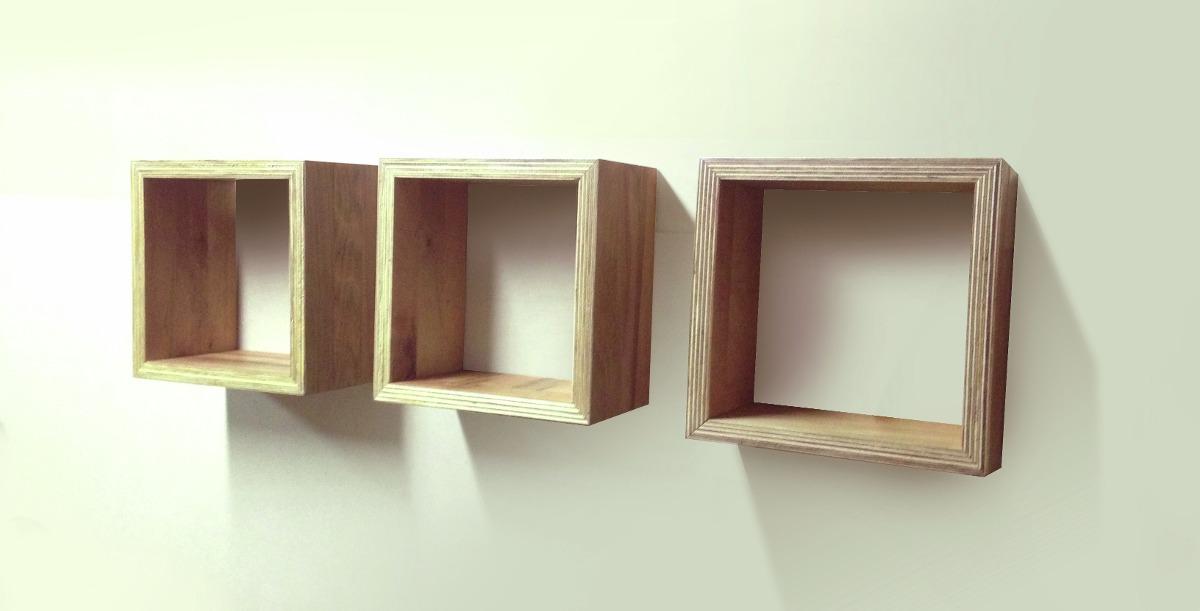 Repisas cubo en madera terciada en mercado libre - Como hacer repisas de madera ...