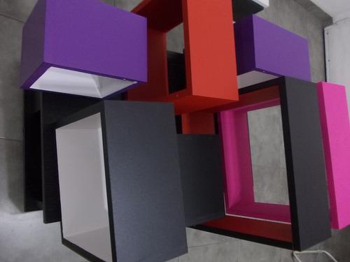repisas, cubos, rectángulos, flotantes, varias medidas,