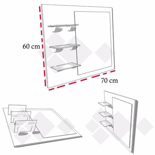 repisas de cristal con base espejo , mobinterior