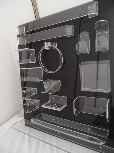 repisas en acrílico transparente - de 60 cm - ind. uruguaya