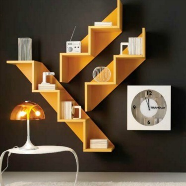 Repisas en escalera minimalista muebles minimalistas 3 for Muebles minimalistas