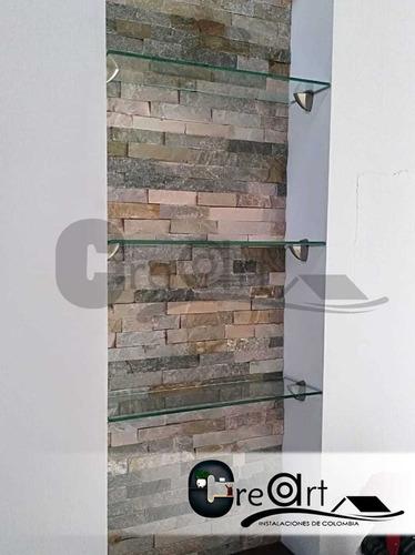repisas en vidrio templado - creart intalaciones