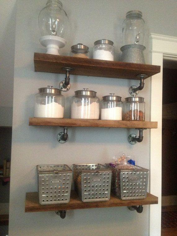 Repisas estantes ca os y maderas varios usos - Estanterias rusticas de madera ...
