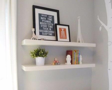 Image gallery estantes flotantes for Mueble de 5 repisas