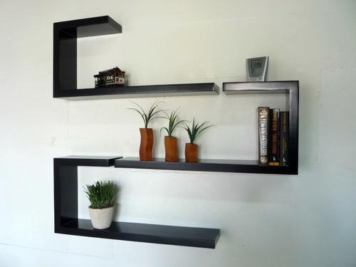 repisas flotantes hogar decoracion oficina melaminico madera