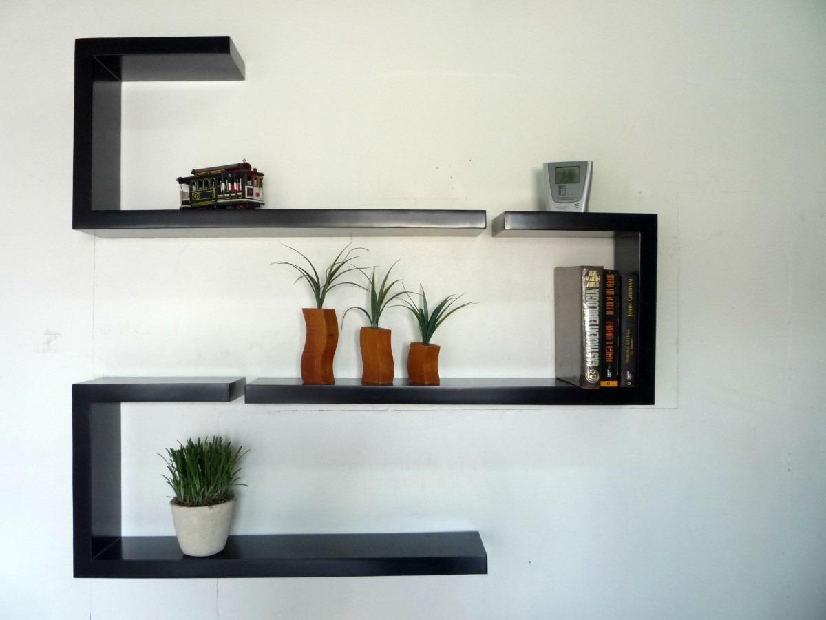 Repisas flotantes minimalistas forma j muebles el angel for Adornos para repisas